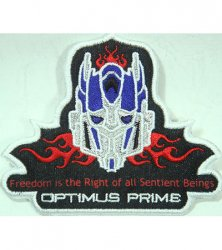 Transformers Movie Collectors' Patch Limited Black Optimus Prime