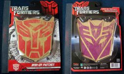 Transformers Movie Collector's Autobot & Decepticon Logo Patches