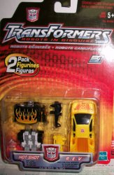 Robots in Disguise R.i.D 2 Pack Hot Shot & R.E.V
