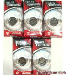 Transformers Movie Collectors' Coins Set of 5 (Silver Finish)